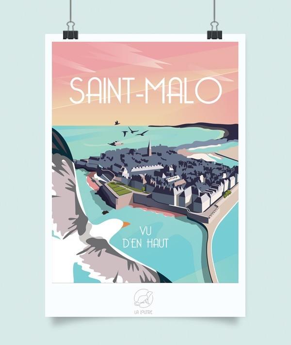 Affiche Saint malo La loutre à Rennes