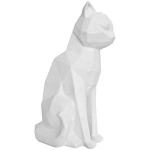 Statue chat blanc
