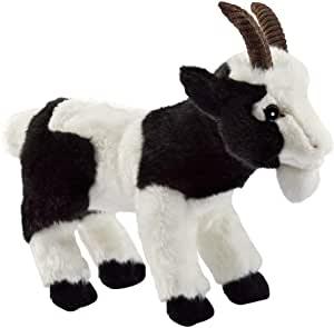 Peluche chèvre noire et blanche