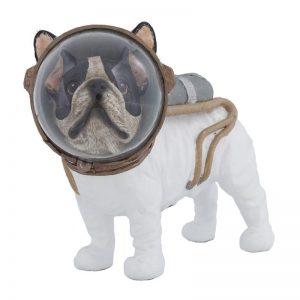 statue chien astronaute