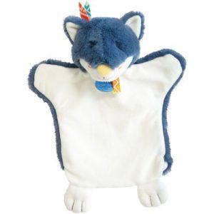 Marionnette doudou loup