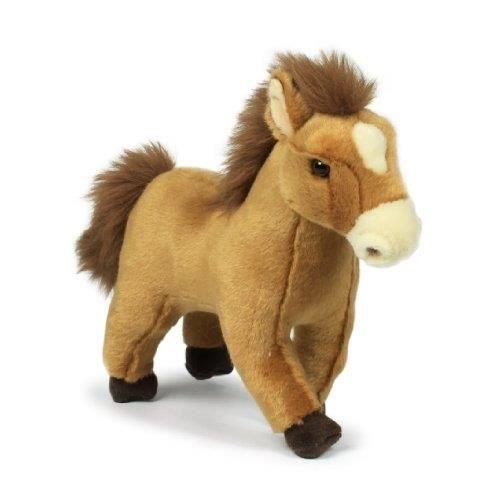 peluche cheval marron