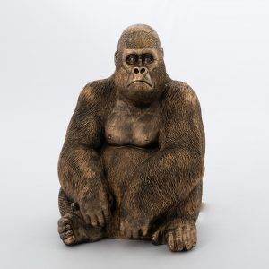 statue gorille bronze gm