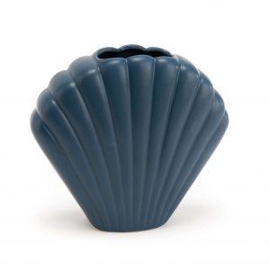 vase coquillage bleu