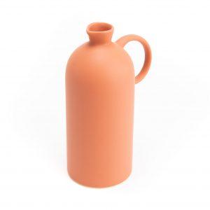 Vase bouteille orange
