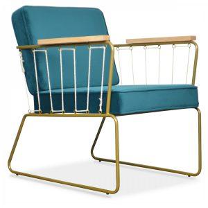 fauteuil cabanette bleu saxo