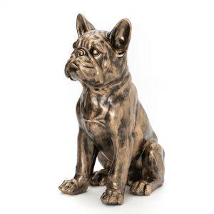 Statue chien bouledogue